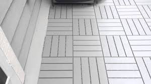 ikea snap together patio floor covering youtube