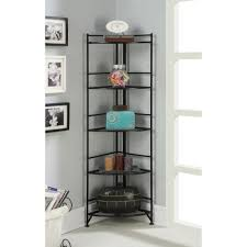 creative design metal and wood bookcase for your room decor home furniture black metal corner bookcase ideas five tier grey wall paint