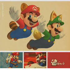 compare prices on retro mario wall stickers online shopping buy super mario cartoon nostalgic childhood memories retro kraft paper poster posters decorative painting core china