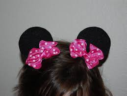 mickey mouse hair bow pinkie for pink tutorial minnie mouse ear hair
