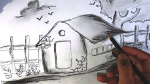 beautiful pencil drawing of nature beautiful drawing of nature
