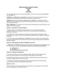 Software Qa Engineer Resume Sample by Memorandum Of Understanding Form Mou Template With Sample