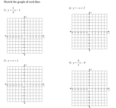 graphing slope intercept form worksheet worksheets