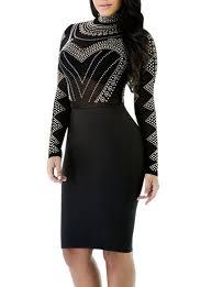women u0027s midi dress semi sheer embellished bodice long
