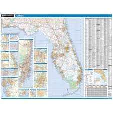 Pensacola Florida Map by Rand Mcnally Florida State Wall Map