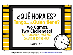 primary spanish resources time and timetables