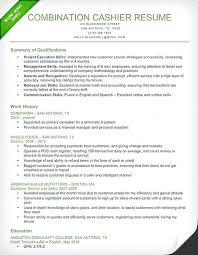 Resume For Grocery Store Supermarket Cashier Resume Sample Cashier Combination Resume
