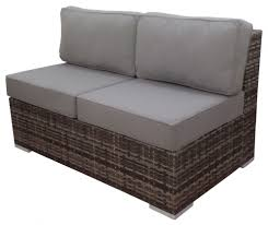 Patio Loveseat Cushion Replacement Furniture Mesmerizing Wicker Loveseat For Outdoor Or Indoor