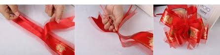 pull ribbon 100pcs lot 5cm large size color organza pull bows wedding car