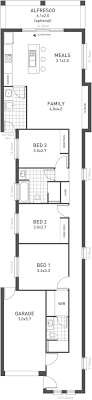 narrow house plans impressive narrow block house plans 2 new home plan narrow block