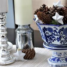 blue and white winter dining room centerpiece u2022 must love home