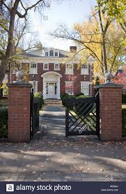 Three Story House by Gated Walkway Up To Three Story Vintage Brick House In The Fall