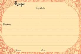 13 recipe card templates excel pdf formats