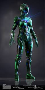 power rangers concept art elizabeth banks u0027 green ranger