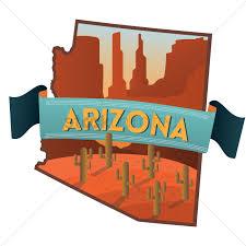 Arizona State Map by Arizona State Map Vector Image 1564305 Stockunlimited
