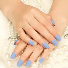 salon nail art matte french fake nail tips short size false nails
