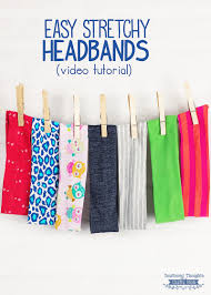 stretchy headbands how to make a stretchy headband tutorial and free template