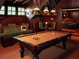 Red Felt Pool Table Pool Table In Living Room Home Theater Rustic With Tan Felt Pool