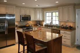White With Brown Glaze Kitchen by Glazing Kitchen Cabinets