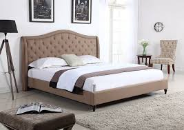 Headboard For Platform Bed Homelife 53 Light Brown Curved Tufted Headboard Platform B