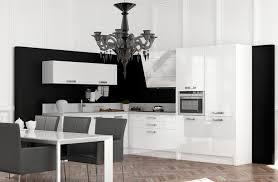 cuisine noir et blanc laqué charmant deco cuisine blanc et 6 cuisine blanc et noir