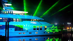 laser light show miami explorer yachts news charter yacht big fish antarctic pacific
