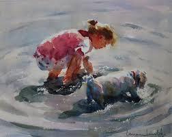 Best Painting Lorraine Lewitzka 1952 Figurative Watercolour Painter Tutt