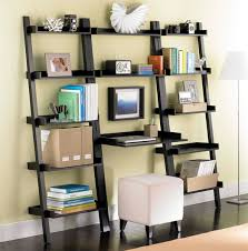 leaning bookcase desk home vid