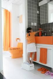 22 best home orange and grey bathroom images on pinterest