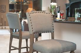 Bistro Upholstered Counter Height Dining Chair WoodGray Sand Set - Tanshire counter height dining room table price