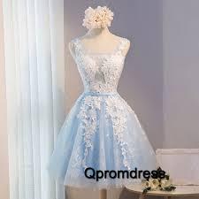prom dresses for teen homecoming dress light blue tulle