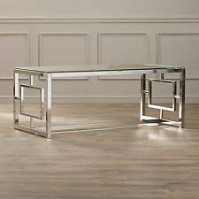 Glass Rectangle Coffee Table Glass Modern Living Room Coffee Table Tables Ebay