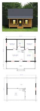one bedroom log cabin plans maybe widen second for bunks or add a loft space with small beds or