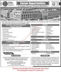 shifa international hospital islamabad jobs october 2016 apply