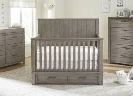 Convertible Cribs With Storage Bassett Dreams Everest 4 In 1 Convertible Storage Crib Smokey