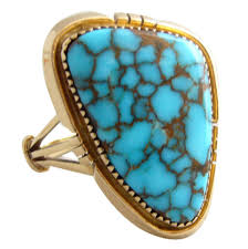 turquoise gemstone blue mountain turquoise gold native american ring for sale at 1stdibs