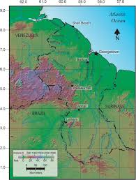 Guyana Map Documentation Of Diverse Amphibian And Reptilian Faunas Of Guyana