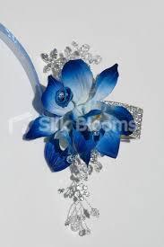 blue orchid corsage shop modern galaxy blue orchid satin mini wedding wrist