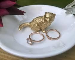 antique cat ring holder images Cat ring holder etsy jpg