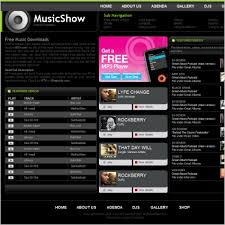 music show template free website templates in css html js format