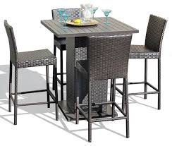 Rustic Pub Table Set Outdoor Bar Table And Chairs Set Outdoorlivingdecor