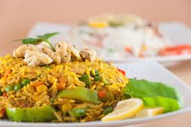 cuisine indienne riz cuisine indienne riz avec de la viande de poulet photo stock