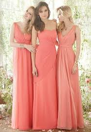 coral and gold bridesmaid dresses 19 best bridesmaid images on flower wedding