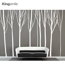 aliexpress com buy huge white 8 birch trees forest vinyl wall aliexpress com buy huge white 8 birch trees forest vinyl wall stickers nursery kids decals art branches sticker living room home decor 290 x 180cm from