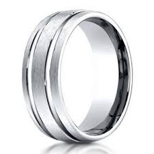 titanium mens wedding bands benchmark titanium men s wedding band satin finish groove 6mm