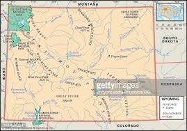 colorado physical map political map of wyoming stock illustration getty images