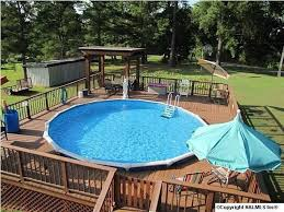 Backyard Above Ground Pool Ideas 22 Amazing And Unique Above Ground Pool Ideas With Decks