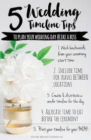plan your wedding tips to help plan your wedding day timeline like a weddbook