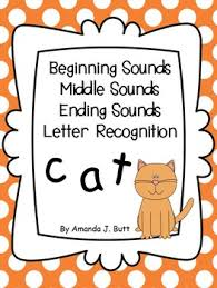 beginning middle ending sounds letter recognition kindergarten