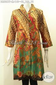 desain baju batik untuk acara resmi model baju batik dress solo kwalitas istimewa busana batik kerja